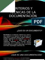 Criterios y Tecnicas de Documentacion