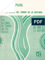 PUJOL, E. - El Dilema Del Sonido en La Guitarra