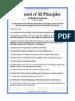 42 Principios