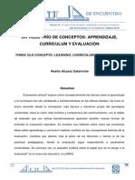 PS-Un viejo trío de conceptos-aprendizaje, currículum y evaluación- (2014=