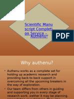 Scientific Manuscript Completion Service