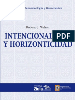 Intencionalidad y Horizonticidad
