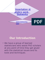 Help With Dissertation Statistics