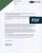 Addendum to Bishop Mylo's Letter for WCD 2015