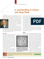 Segregation and Banding in Carbon and Alloy Steel