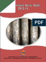 Annual Corrosion Survey Report 2013-14