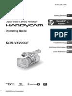 Handycam Sony VX-2200E