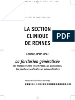 La Forclusion Generalisee Clinique Rennes