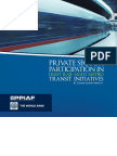 Private Sector Participation in Light Rail/Light Metro Transit Initiatives
