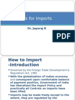 Import Procedures