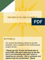Delirium - geriatrie