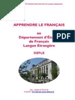 Cours de FLE Paris Diderot