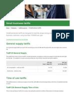 July 2015 Small Business Tariffs - Ergon Energy