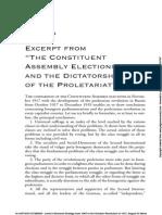 Appendix H of Bolshevik Strategy