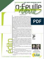 La Feuille Verte n°209 - juillet-août 2015