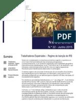 Newsletter CAMMP n.º 22 de junho de 2015