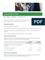 Large Business Tariffs - Ergon Energy