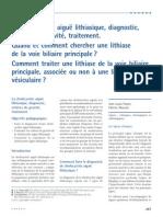 La Cholecystite Aigue Lithiasique Diagnostic Criteres de Gravite Traitement