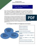 Stratégie du Ministère de l'équipement et du transport