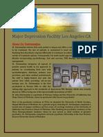 Major Depression Facility Los Angeles CA