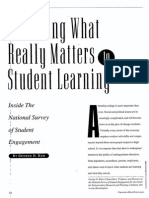 2001 Assessing What Really Matters to Student Learning (Kuh, 2001)