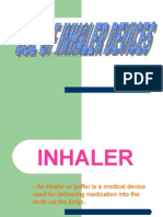 Uses of Inhaler Devices