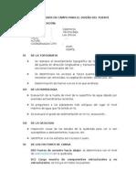 Datos a Obtener en Campo Para El Diseño Del Puente