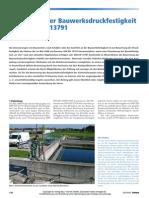 Bewertung der Bauwerksdruckfestigkeit nach DIN EN 13791