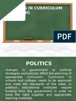 Factors in Curriculum Planning