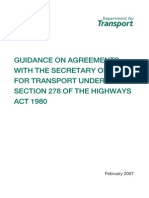Section 278 Agreement Guidance