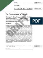 "Phenomenology ""of"" Aristotle"
