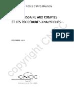 2011-08-25 NI VIII Procedures Analytiques