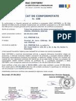 Certificat Conformitate Tuburi