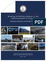 Governor's Commission on Military Installations Report