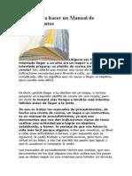 5 pasos para hacer un Manual de Procedimientos.doc