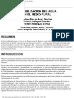 Potabilizaciòn Rural
