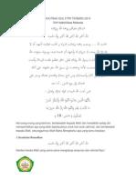 Khutbah Idul Fitri 2014 Romadhon Telah Pergi