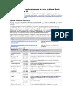 Tipos de Archivo y Extensiones de Archivo en Visual Basic
