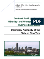 Comptroller Report on MWBE and DASNY