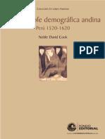 La Catástrofe Demográfica Andina - Cook, Noble David