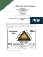 Selection of Hazard Evaluation Technique
