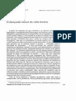 O Abençoado Retorno Da Velha História - Mª Fátima Bonifácio