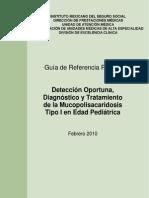 GRRMucopolisacaridosisTipoIenEdadPediátrica