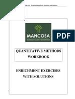 MBA 1 Quantitative Methods Workbook Jan 2015