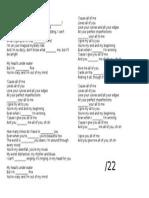 All Of Me worksheet (Listening Skill)