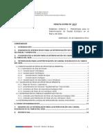 Minuta DGA N° 267_2011 Establece criterios y metodología determinar caudal ecológico