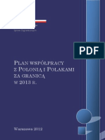 Plan Wspolpracy z Polonia i Polakami Za Granica 2013