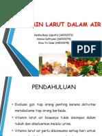 Nilai Untuk Mengevaluasi Status Gizi Vitamin Larut Dalam