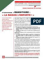 PÉRIODE TRANSITOIRE « LA RAISON L'EMPORTE ! »