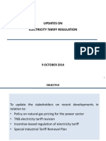 Updates on Electricity Tariff Regulation in Peninsular Malaysia